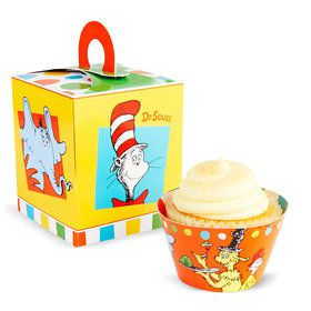 Dr. Seuss Favorites Cupcake Box & Wrapper (8)