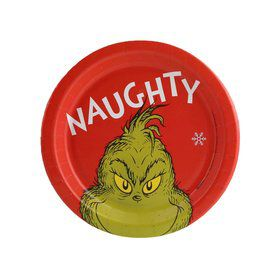 Dr. Seuss Grinch Naughty Dessert Plate (8)