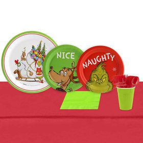 Dr. Seuss Grinch 16 Guest Party Pack