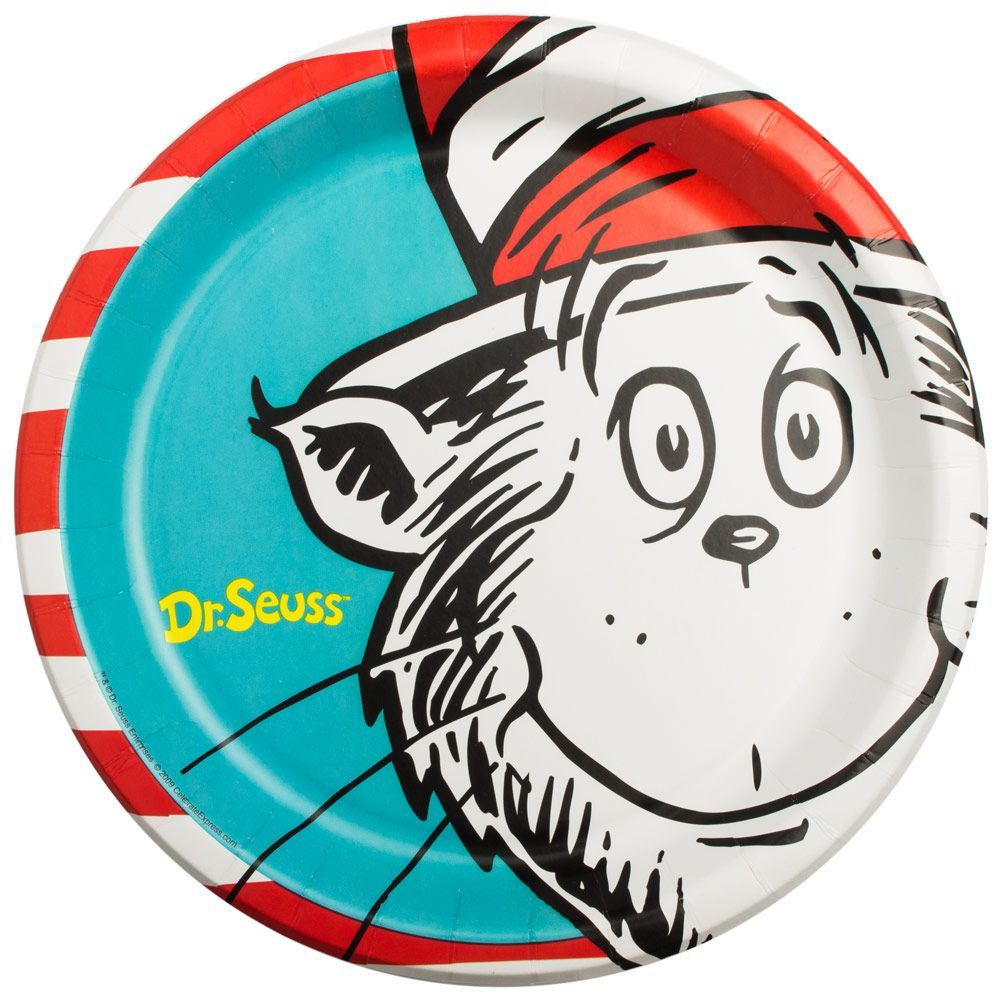 Dr. Seuss Luncheon 9 1/2  Plates (8 Pack)  sc 1 st  Birthday in a Box & Dr. Seuss Luncheon 9 1/2 Plates - Dr. Seuss Party Supplies and Kits