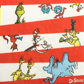 Dr. Seuss Luncheon Napkins (16 Pack)