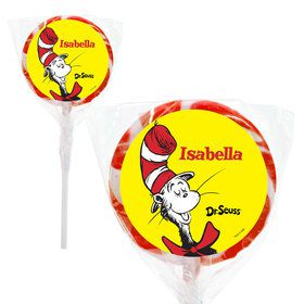 "Dr. Seuss Personalized 2"" Lollipops (20 Pack)"