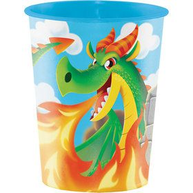 Dragon 16oz Plastic Favor Cup (Each)