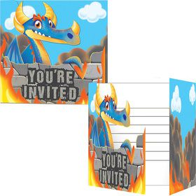 Dragon Invitations ( 8 Count)
