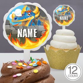 Dragon Personalized Cupcake Picks (12 Count)