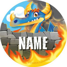 Dragon Personalized Mini Stickers (Sheet of 24)