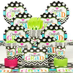 Dream Big Graduation Deluxe Tableware Kit (Serves 50)