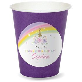 Dreamy Unicorn Personalized Cups (8)