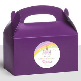 Dreamy Unicorn Personalized Treat Favor Boxes (12 Count)