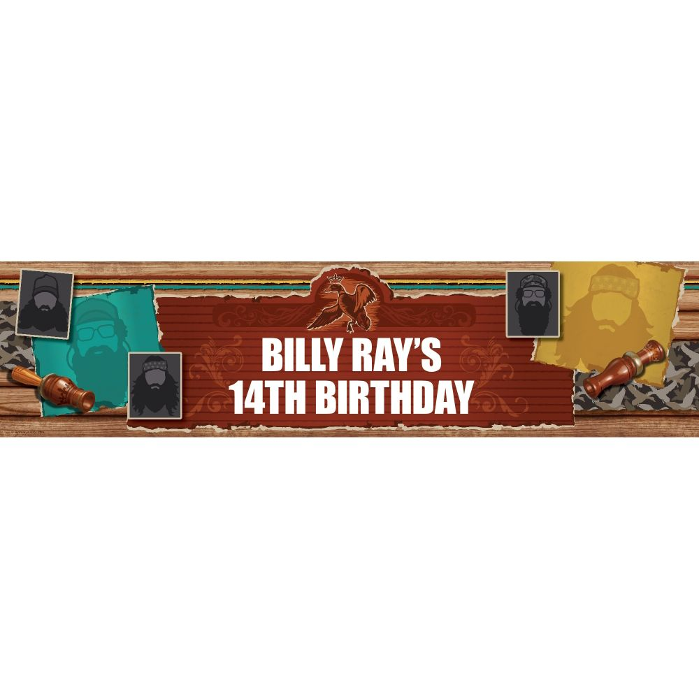 Duck Dynasty Personalized Banner (Each) BB1390BN