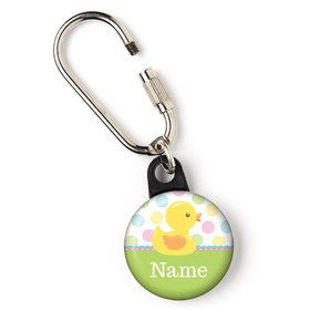 "Duckie Dots Personalized 1"" Carabiner (Each)"