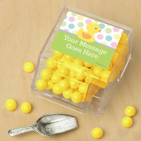 Duckie Dots Personalized Candy Bin with Candy Scoop (10 Count)