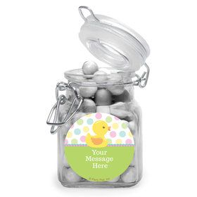 Duckie Dots Personalized Glass Apothecary Jars (10 Count)
