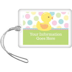 Duckie Dots Personalized Luggage Tag (Each)