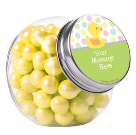 Duckie Dots Personalized Plain Glass Jars (10 Count)