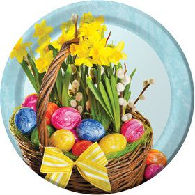 Easter Beautiful Basket Dinner Plate (8)