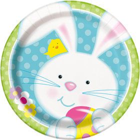 "Easter Bunny 9"" Luncheon Plate (8 Count)"