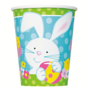 Easter Bunny 9oz Paper Cups (8 Count)