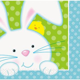 Easter Bunny Beverage Napkins (16 Count)