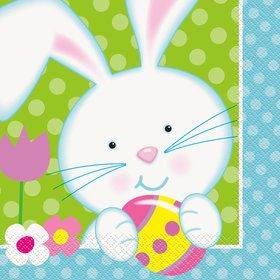 Easter Bunny Luncheon Napkins (16 Count)