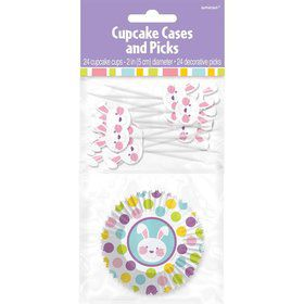 Easter Cupcake Cups and Picks Set (Each)