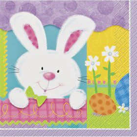Easter Patchwork Bunny Luncheon Napkins (20 Pack)