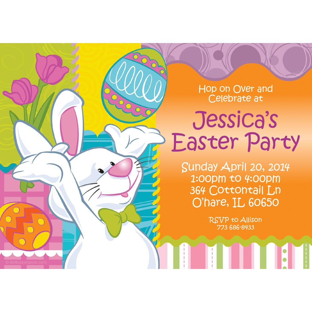 Easter Personalized Invitation (Each) - Party Supplies BB1395IN