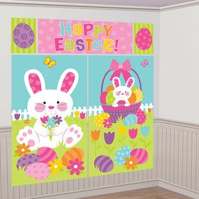 Easter Scene Setter Wall Decoration (5 Pieces)