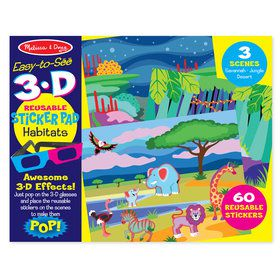Easy-to-See 3-D Reusable Sticker Pad - Habitats