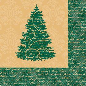 Elegant Christmas Luncheon Napkins (16 Pack)