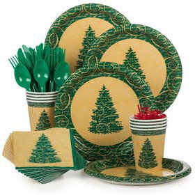 Elegant Christmas Standard Tableware Kit Serves 8