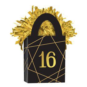 Elegant Gold Sweet 16 Balloon Weight