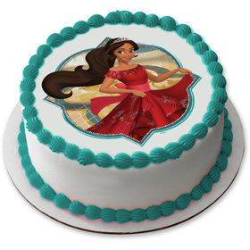 "Elena of Avalor 7.5"" Round Edible Cake Topper (Each)"