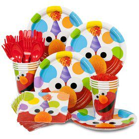Elmo Birthday Party Standard Tableware Kit Serves 8