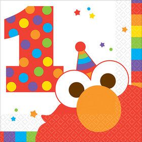 Elmo Turns One Beverage Napkins (16 Count)