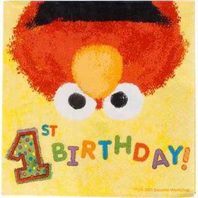 Elmo's 1st Birthday Beverage Napkins (36-pack)