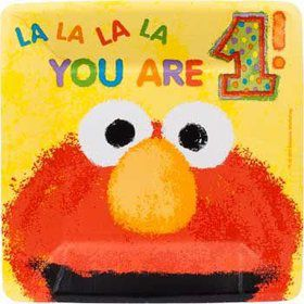 Elmo's 1st Birthday Cake Plates (18-pack)