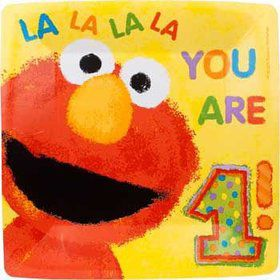 Elmo's 1st Birthday Dinner Plates (18-pack)