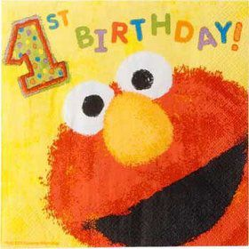 Elmo's 1st Birthday Napkins (36-pack)
