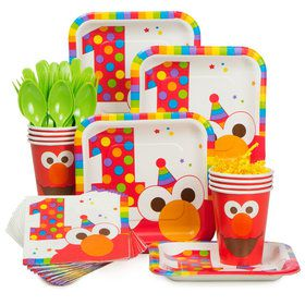 Elmo's 1st Birthday Standard Tableware Kit Serves 8