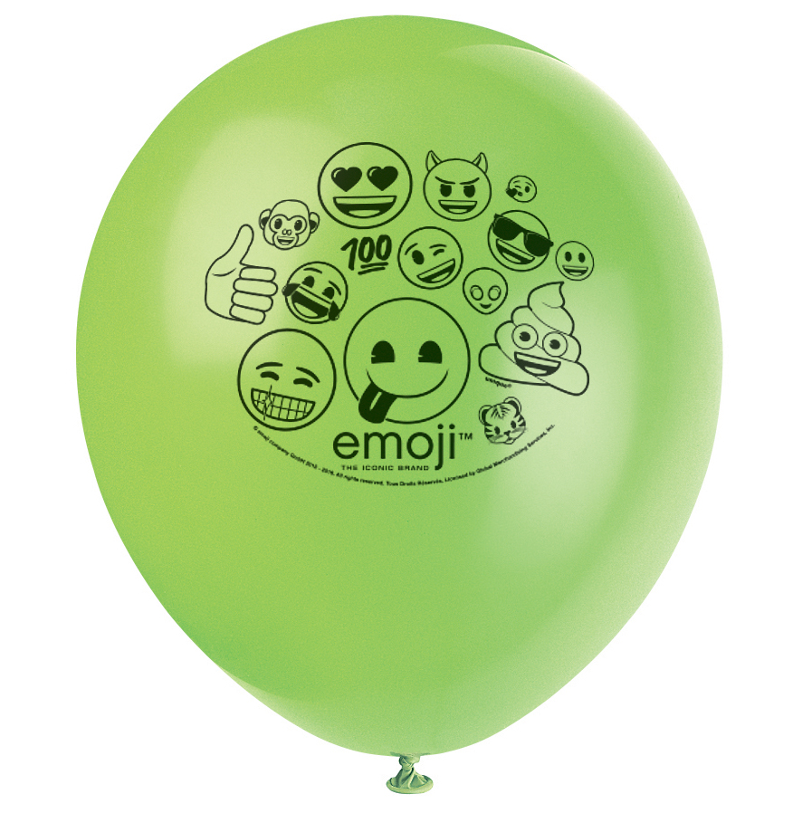 "Emoji 12"" Latex Balloons (8 Count) BB50615"
