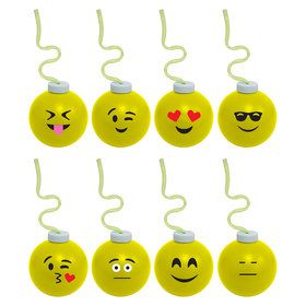 Emoji 16oz Krazy Koolers with Krazy Straw (Each - Assorted)