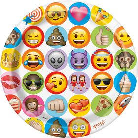 "Emoji 9"" Luncheon Plates (8 Count)"