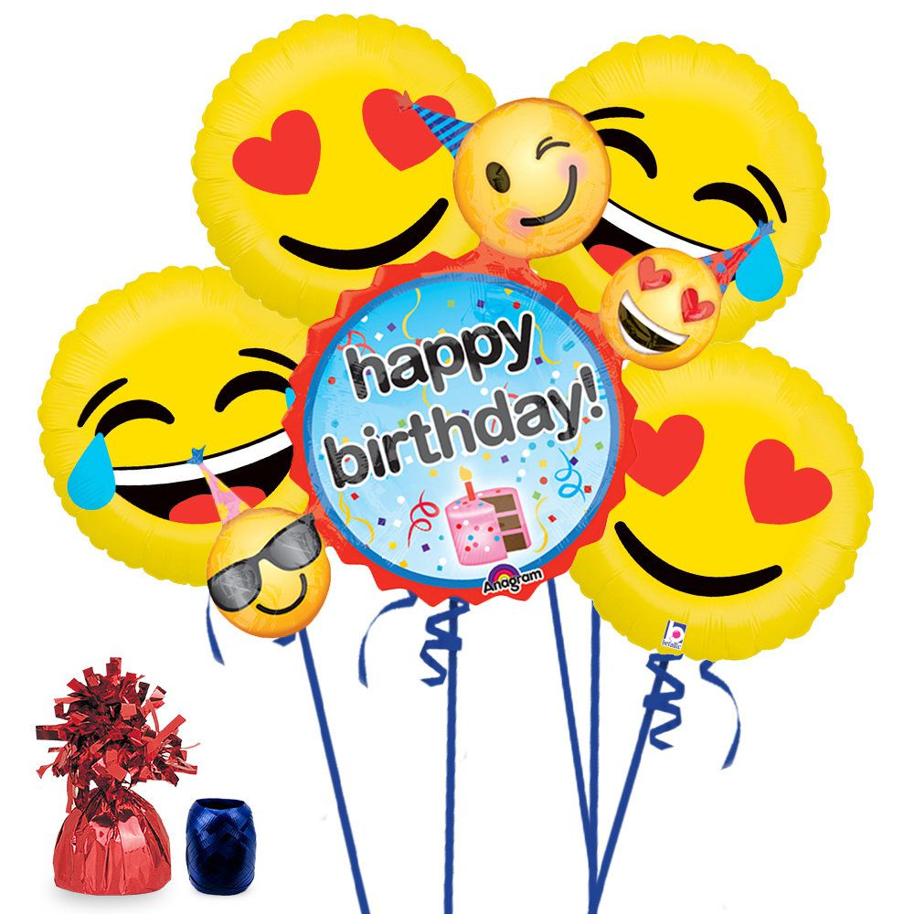 Emoji Birthday Balloon Bouquet Kit