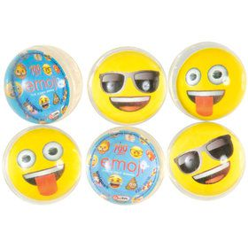 Emoji Bounce Balls (6 Count)