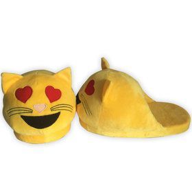 Emoji Cat Heart Eyes Slippers
