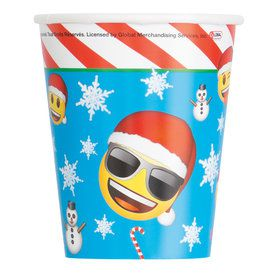 Emoji Christmas 9oz Cups (8 Count)
