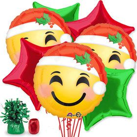 Emoji Christmas Balloon Bouquet Kit