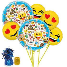 Emoji Deluxe Balloon Bouquet Kit