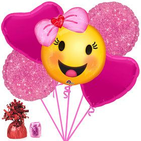 Emoji Girl Balloon Bouquet Kit